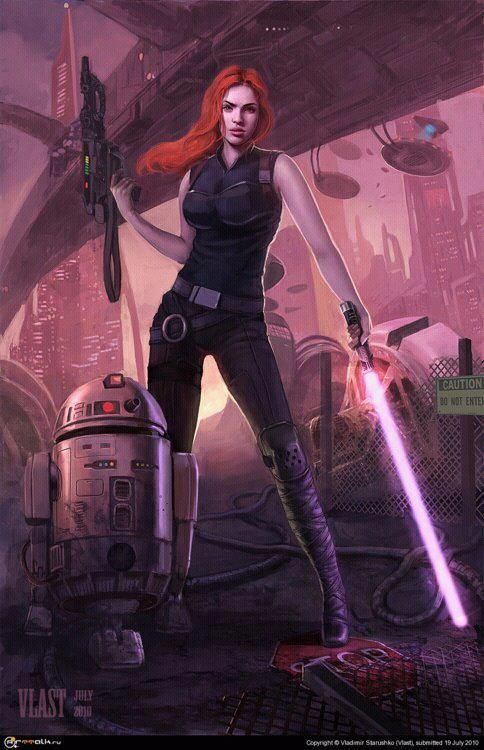 Anybody else feel like it&#39;s long overdue for Mara Jade to be a part the #StarWars mix, movie wise? <br>http://pic.twitter.com/Won4AmBt9Z