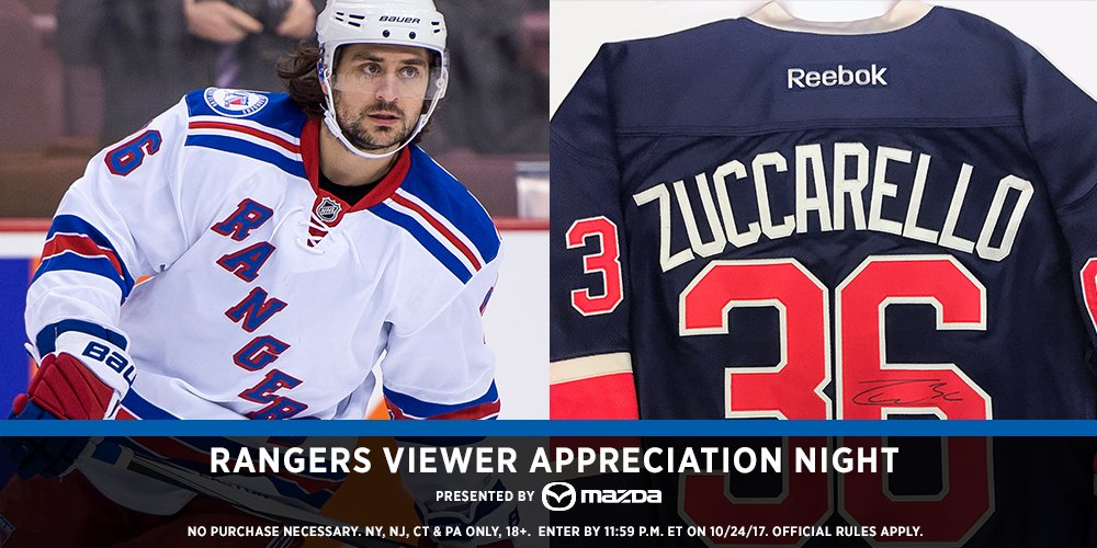 Shh...word on the street is there may be a signed  jersey for someone who RTs this.  Tune in to MSG to see if you won!