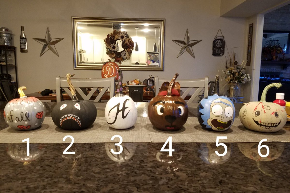 Which pumpkin 🎃 is your favorite?  Friendly family competition hehe  #pumpkin  #diendas  #familia