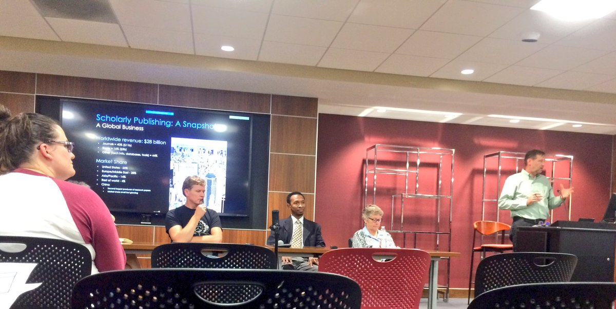 Open Access Forum going on at @VTLibraries. @openatvt @open_con #OpenAccessWeek #OpenInOrderTo<br>http://pic.twitter.com/2kElJixLl7 &ndash; à Newman Library