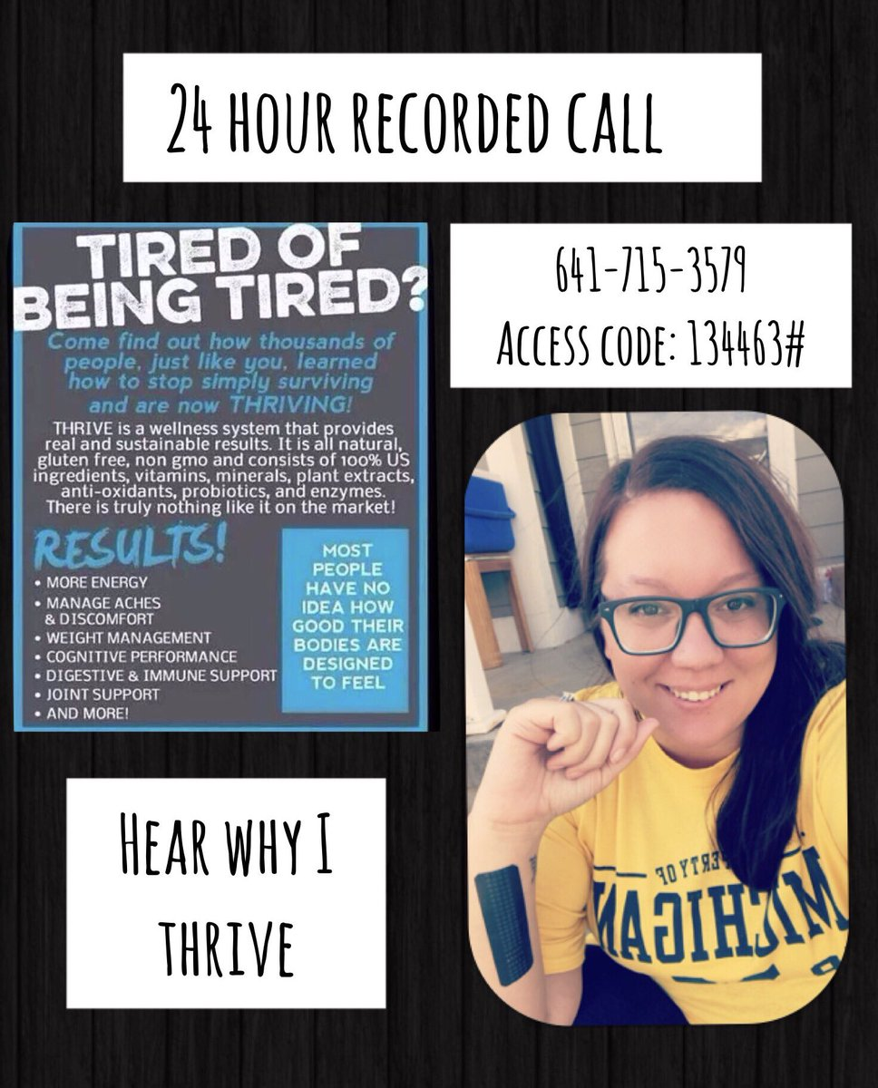 Call and listen 641-715-3579 access code 134463# #lifechanging #mommasback #nomorenaps #alldayenergy #thrivewithme  http:// jbielas92.le-vel.com  &nbsp;  <br>http://pic.twitter.com/STc83wlo8n