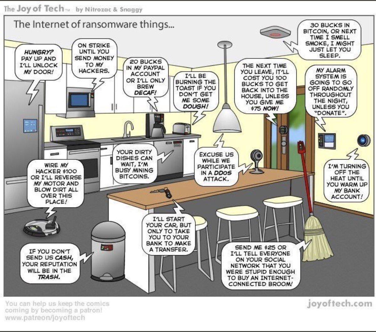 Internet of #ransomware. #Blockchain #cloud  #bitcoin #IoT #tech #vr  #bigdata #fintech #cybersecurity #databreach #SmartCity #btc $btc<br>http://pic.twitter.com/ycMzCm4duP