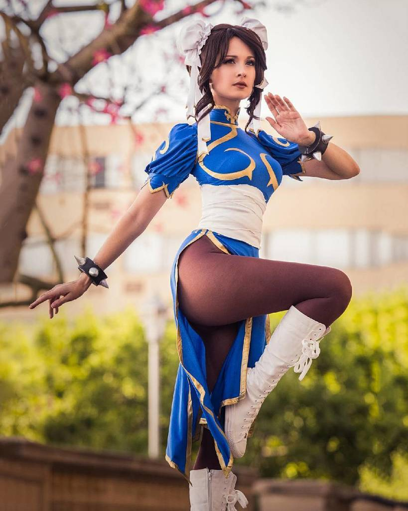 &quot;Nothing a swift kick in the butt won&#39;t fix!&quot; (: @happytriggerla)  #ChunLi #StreetFighter #Cosplay  http:// ift.tt/2laJ51z  &nbsp;   &quot;Nothing a swi… <br>http://pic.twitter.com/TZPFYEJOlD
