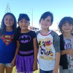 Our school was filled with Superheroes of all sizes today! We have the POWER to SAY NO TO DRUGS! #REDRIBBONWEEK