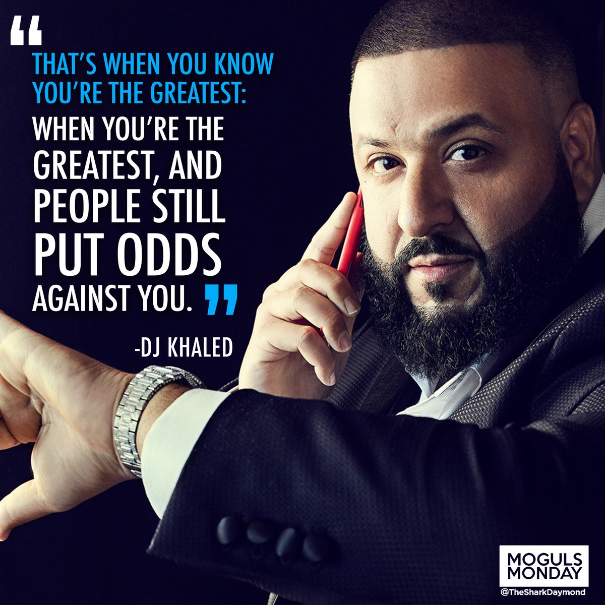My man @djkhaled worked his way up from DJing school dances to the top of the music scene. #MogulsMonday