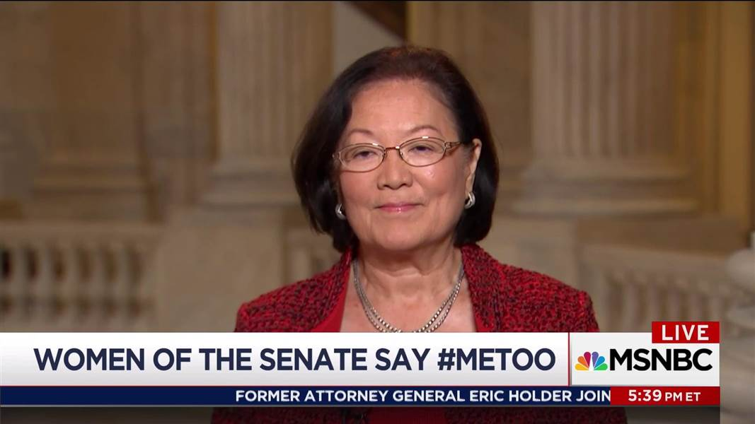 Sen. Hirono on harassment in Congress: I imagine it happens to younger staff https://t.co/06YMnZS9Ul