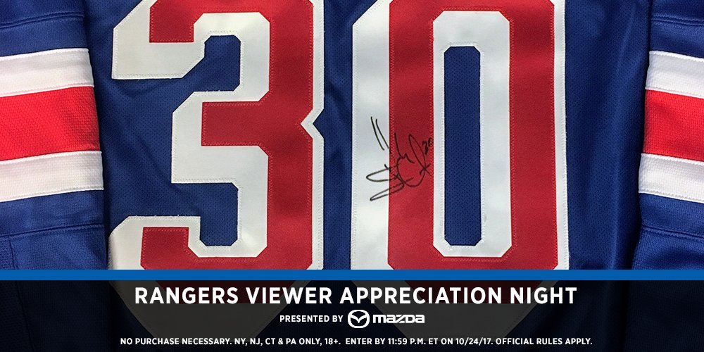 Here's another one... RT this & watch the game on MSG to see if you won a @HLundqvist30 signed jersey!