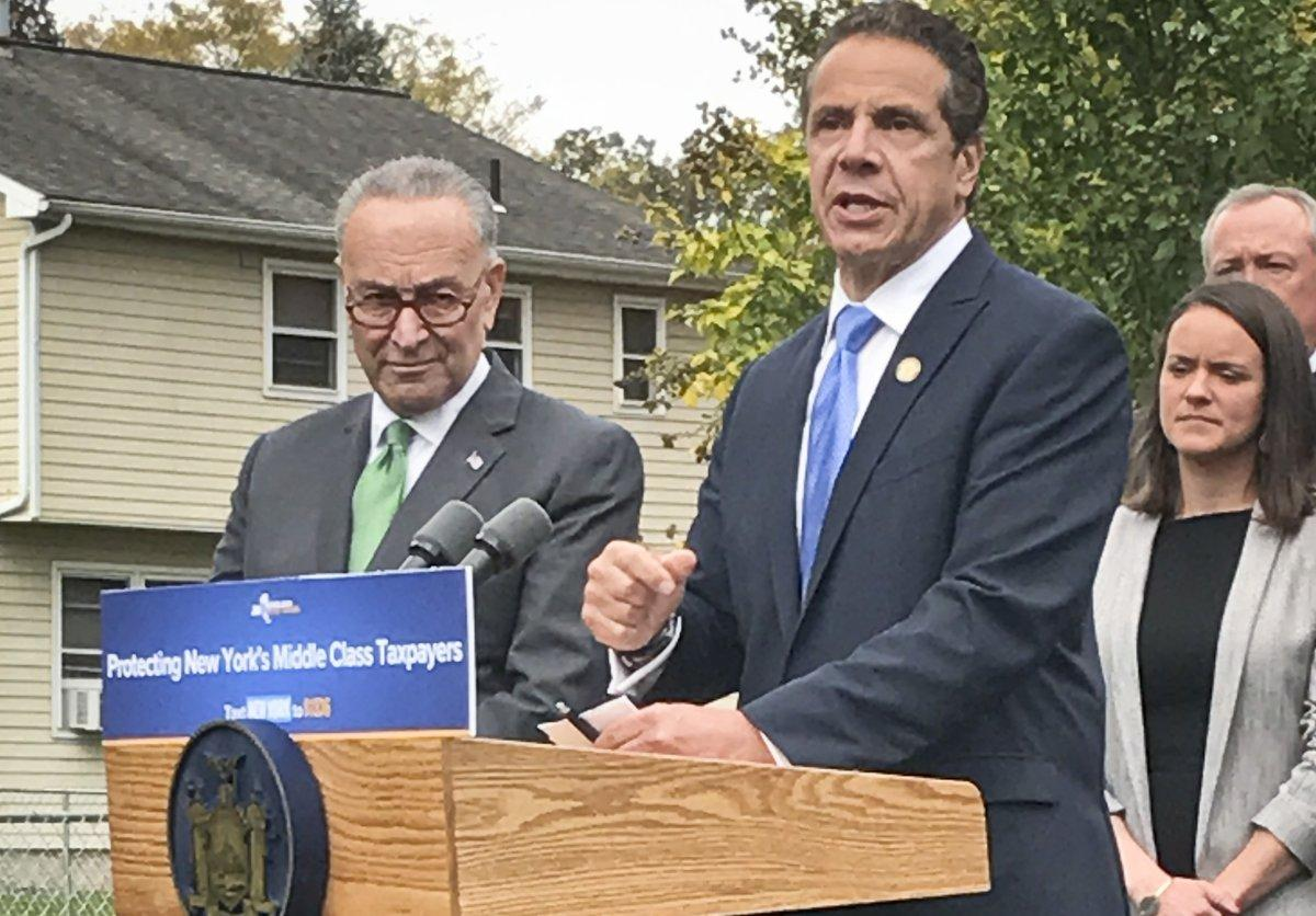 Sen. Schumer and Gov. Cuomo team up against GOP tax reform plan https://t.co/YtWPYrQcDB