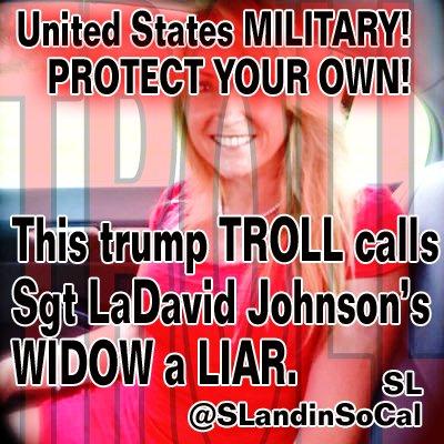 #TROLL calls Sgt Johnson's WIDOW a LIAR @USArmy @ArmyWP_Football @GoArmyWestPoint @WestPoint_USMA @ArmyChaplains @USArmyNorth @USArmyReserve<br>http://pic.twitter.com/hkGmPHTpI8