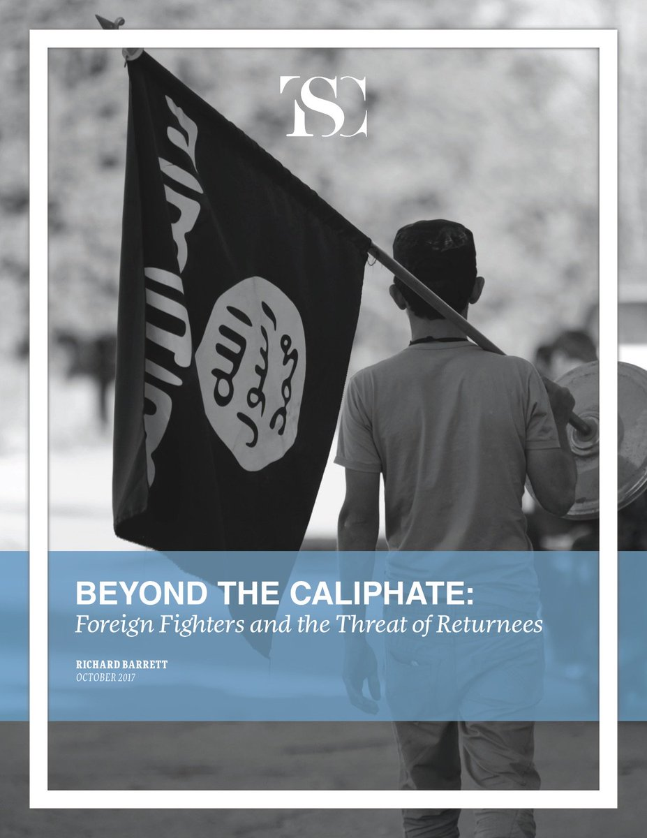 """OUT NOW: Latest report """"Beyond the Caliphate - Foreign Fighters & the Threat of Returnees"""" bit.ly/2h3NONW #foreignterroristfighters"""