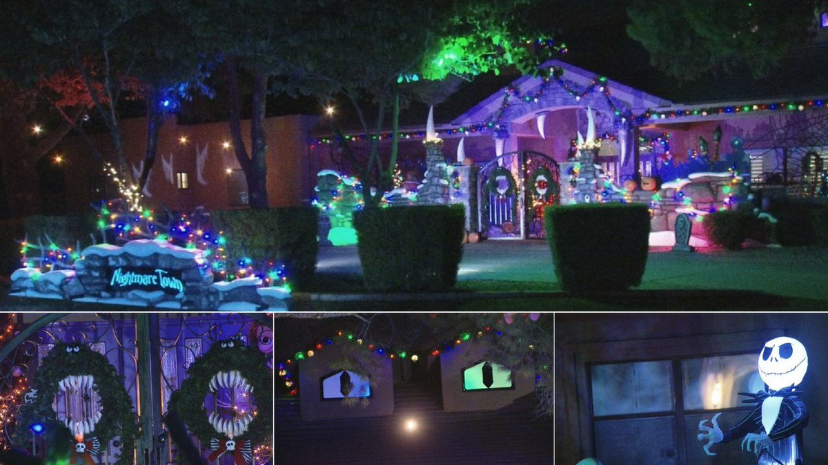 Arizona homeowner creates 'Nightmare before Christmas' themed Halloween display: https://t.co/ntPcUr8QTh