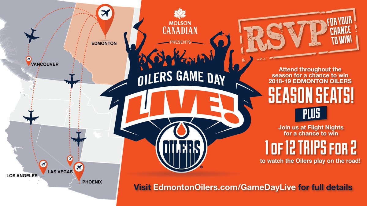 TOMORROW! It's @Molson_Canadian #GameDayLive Flight Night time at @1strnd with a trip to Arizona to be won! RSVP: https://t.co/JEmSvndiIP