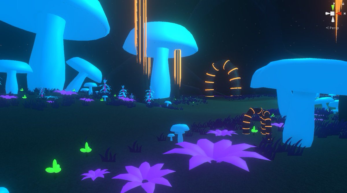 The scene is coming together for our updated audio game #gamedev #indiedev #unity3d <br>http://pic.twitter.com/i6kt72Meuv
