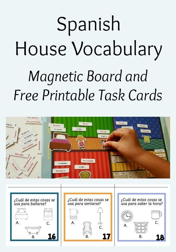 picture about Printable Task Cards known as Spanish Playground upon Twitter: \