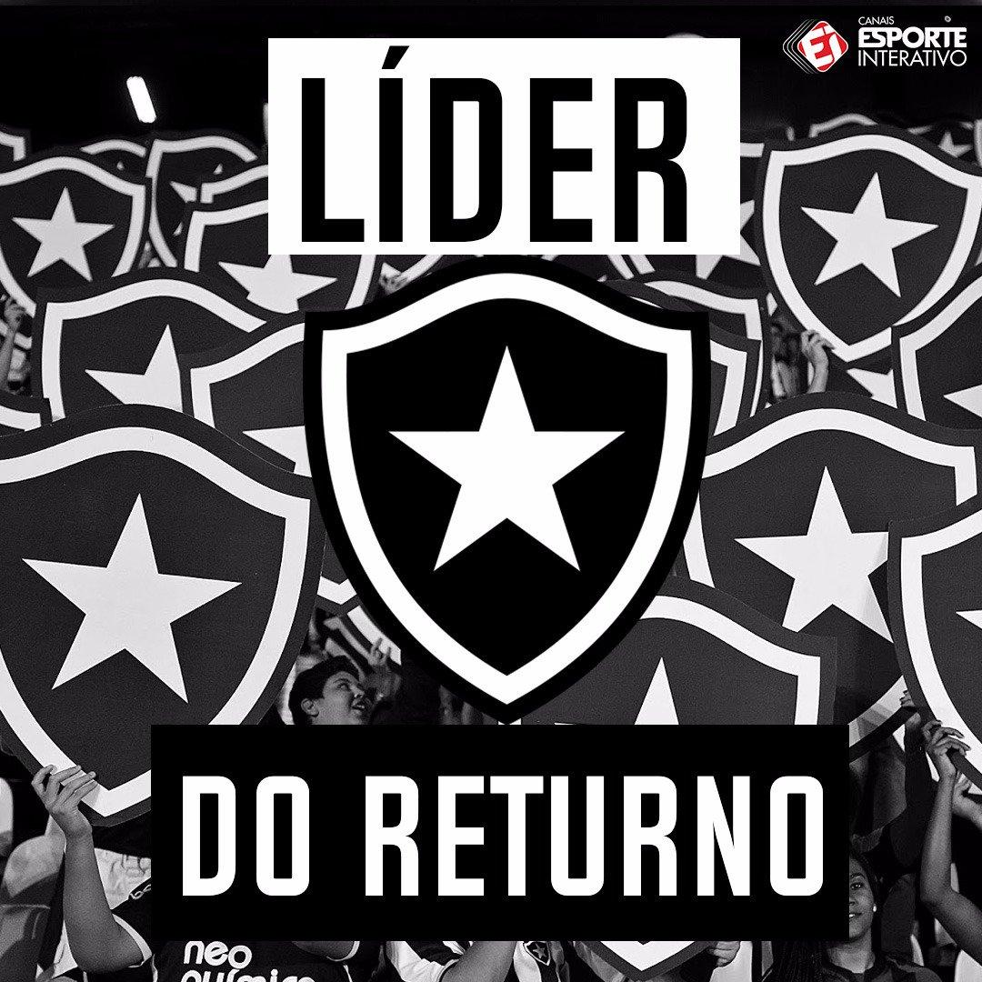 O @BotafogoOficial é o líder do segundo...