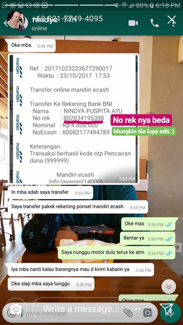 Chatting Kocak Penipu Online Shop Pakai Jasa Antar Barang