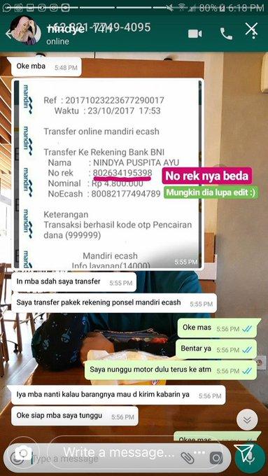Percakapan Seller dan buyer