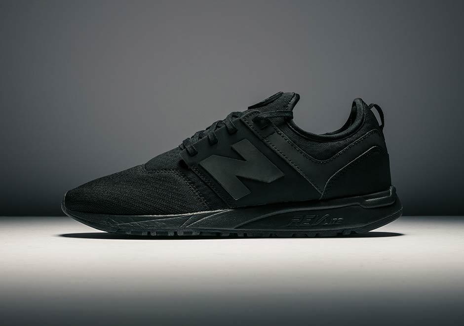 new balance triple black shoes