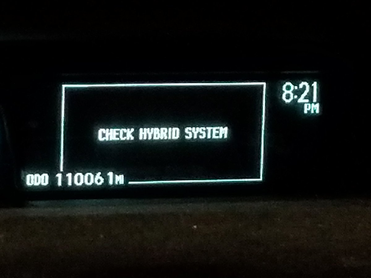 ℬ On Twitter Car Suddenly Stopped Running My Commute Home Tonight Any Prius Owners Ever See Check Hybrid System Error