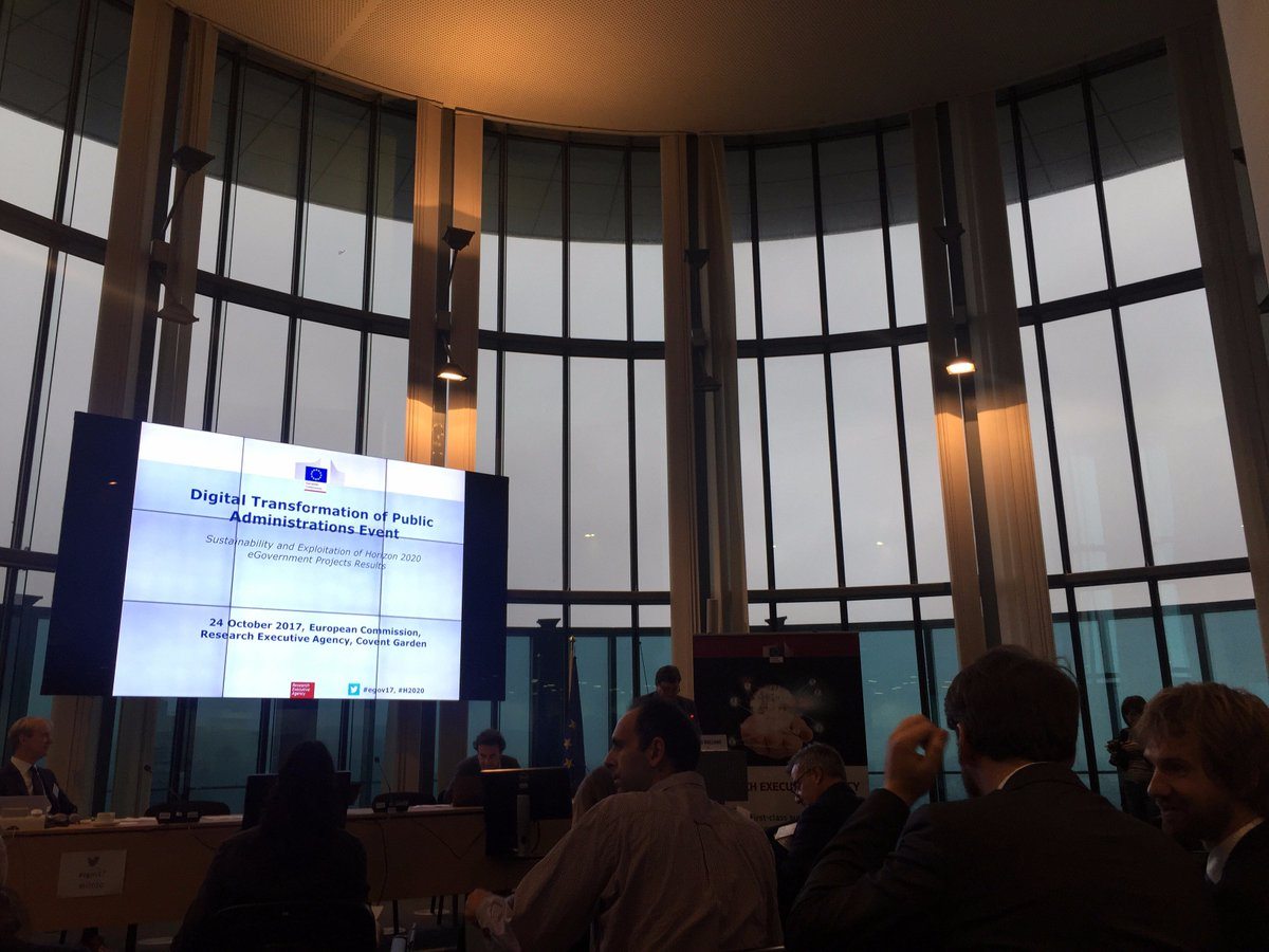 Also attending the &quot;Digital transformation of public administrations event&quot;. It&#39;s a full day! #egov17 #H2020 <br>http://pic.twitter.com/NqflYDEuQB