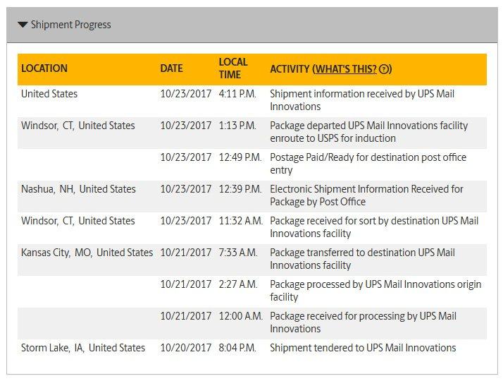 Shipment Info Received By Post Office Techieblogie