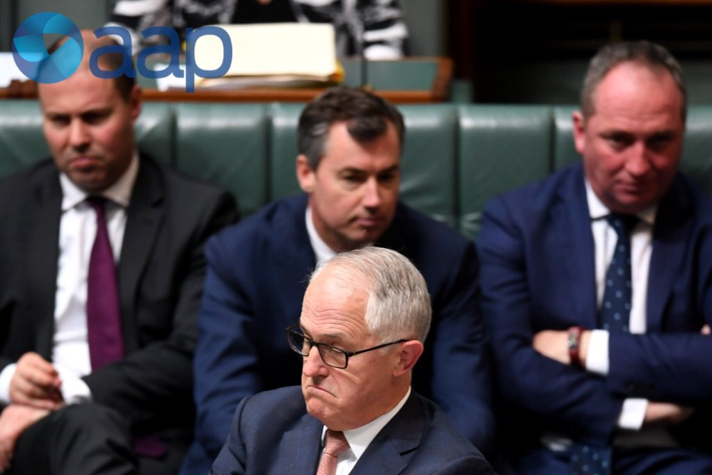 PM Turnbull reacts during #questiontime...