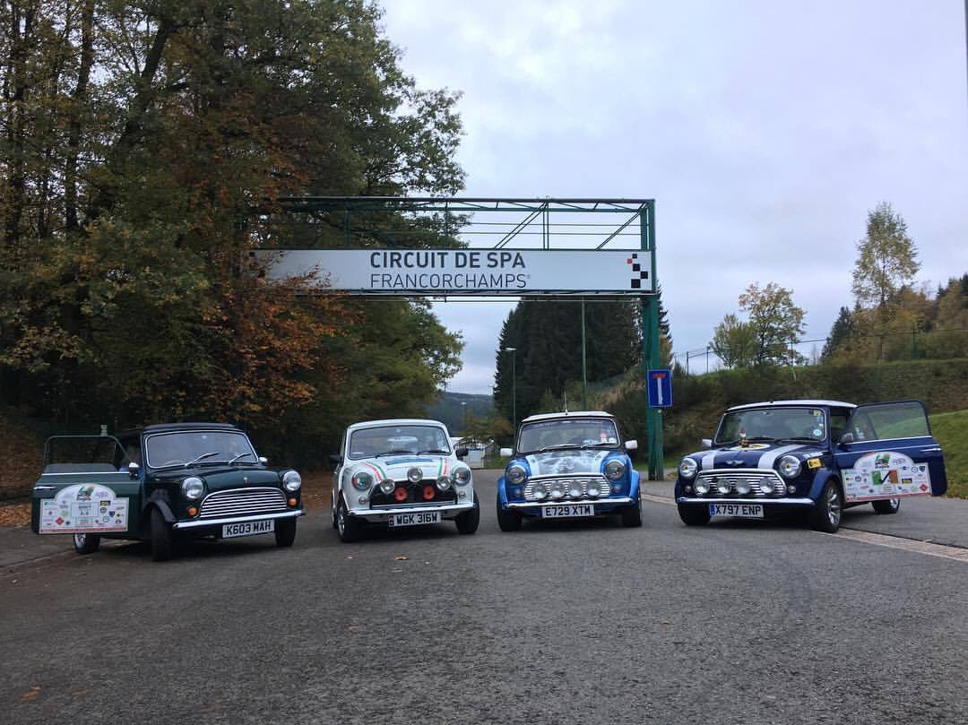 End of day one on the # IJ2017 and the Minis head to the #SPA... pic courtesy of Barry &#39;Bazuardo&#39; Parsons <br>http://pic.twitter.com/KcmlIzwlIu