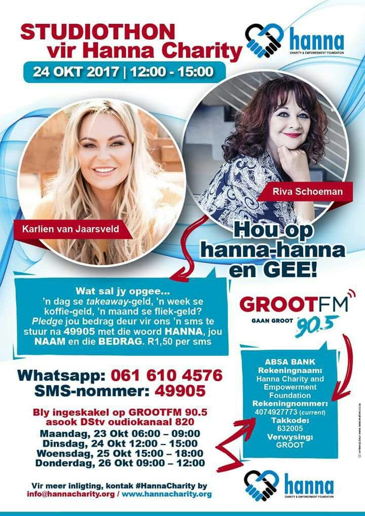 Op GROOT FM 12:00 vra ons almal weer om ons te help met donasies sodat ons vir ons 8000 mense hierdie jaar oor kerstyd kan voorsien!