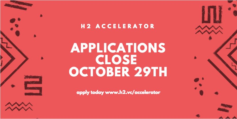 Applications closing! Apply now for @H2_Ventures #Fintech #Data #AI #Startup #Accelerator &amp; join #Summer2018 cohort  https:// h2.vc/accelerator/  &nbsp;  <br>http://pic.twitter.com/gPuVs3XhBH