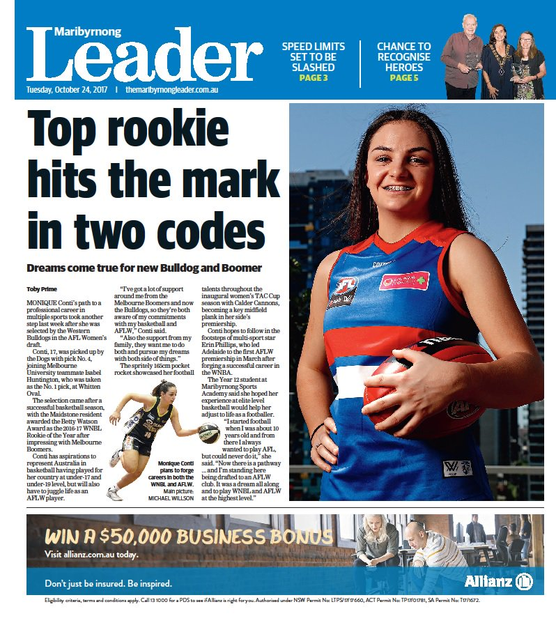 In this week's @maribyrnongldr, basketball star drafted by @westernbulldogs AFLW team & council to cut speed limits https://t.co/A7W2CdYmnL https://t.co/wcplhtkfPQ