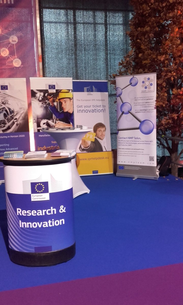 Ready to welcome you on the #EC stand @ #ManuFuture2017 ! @NMPTeam @IPRHelpdesk #H2020 <br>http://pic.twitter.com/wqFmtxvEEX