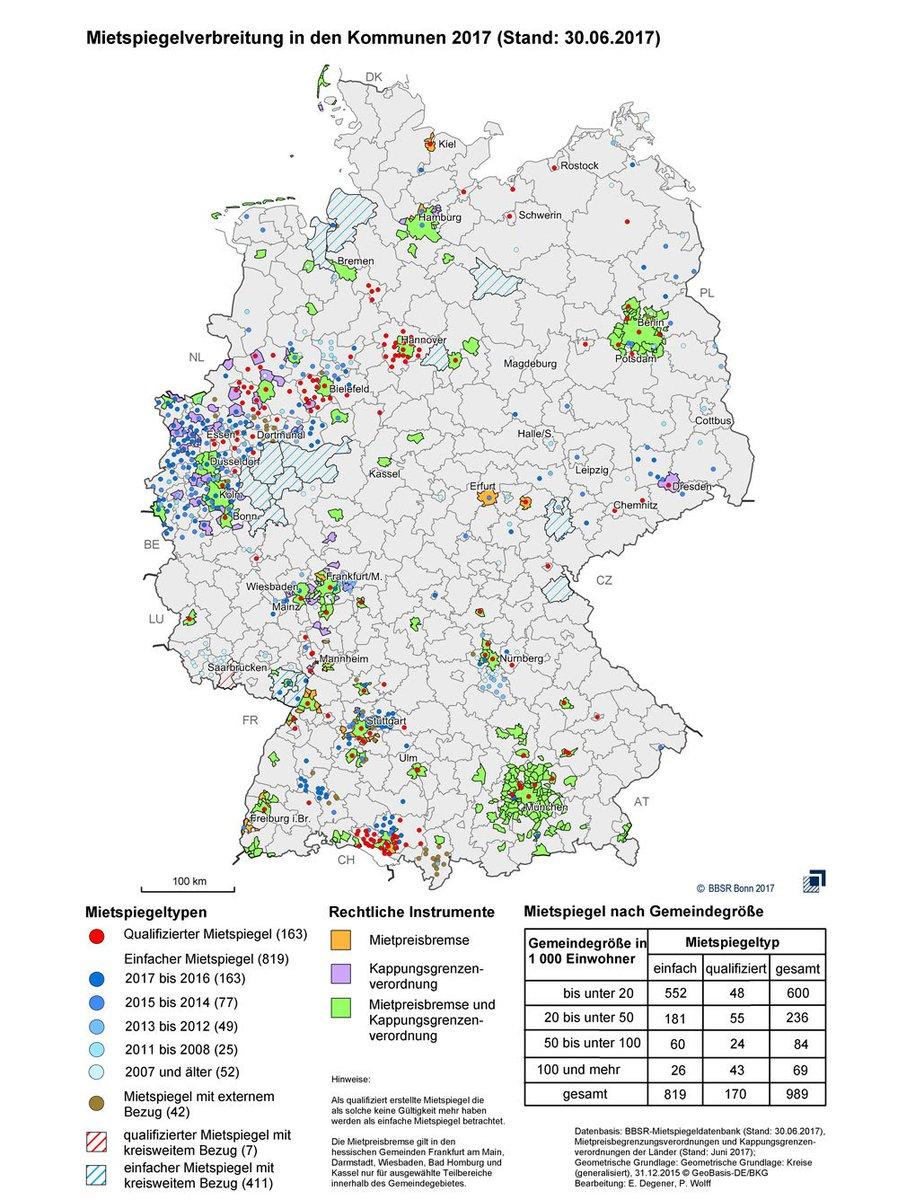 Bbsr On Twitter Karte Mietspiegel In Deutschland 2017 Mieten