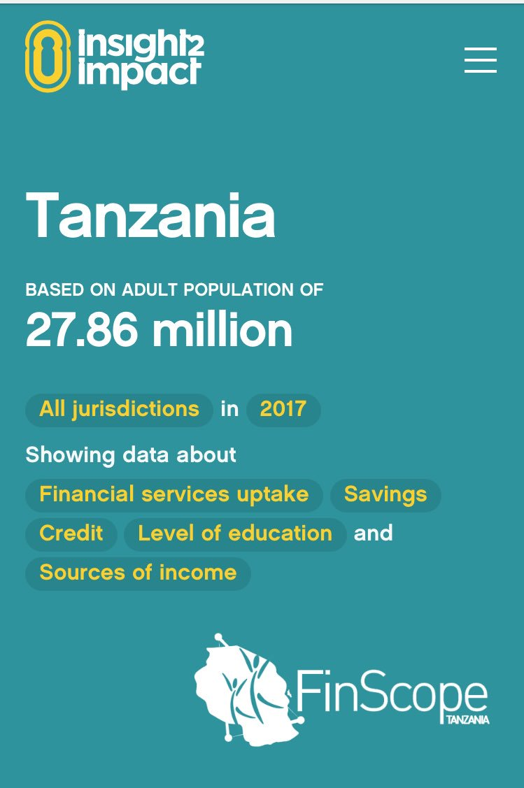 Looking for gender disaggregated data for #FinancialInclusion in #Tanzania? See @i2ifacility data portal ~  http://www. i2ifacility.org/data-portal/TZ A/2017 &nbsp; …  #mfww2017<br>http://pic.twitter.com/8NpLr22lHf