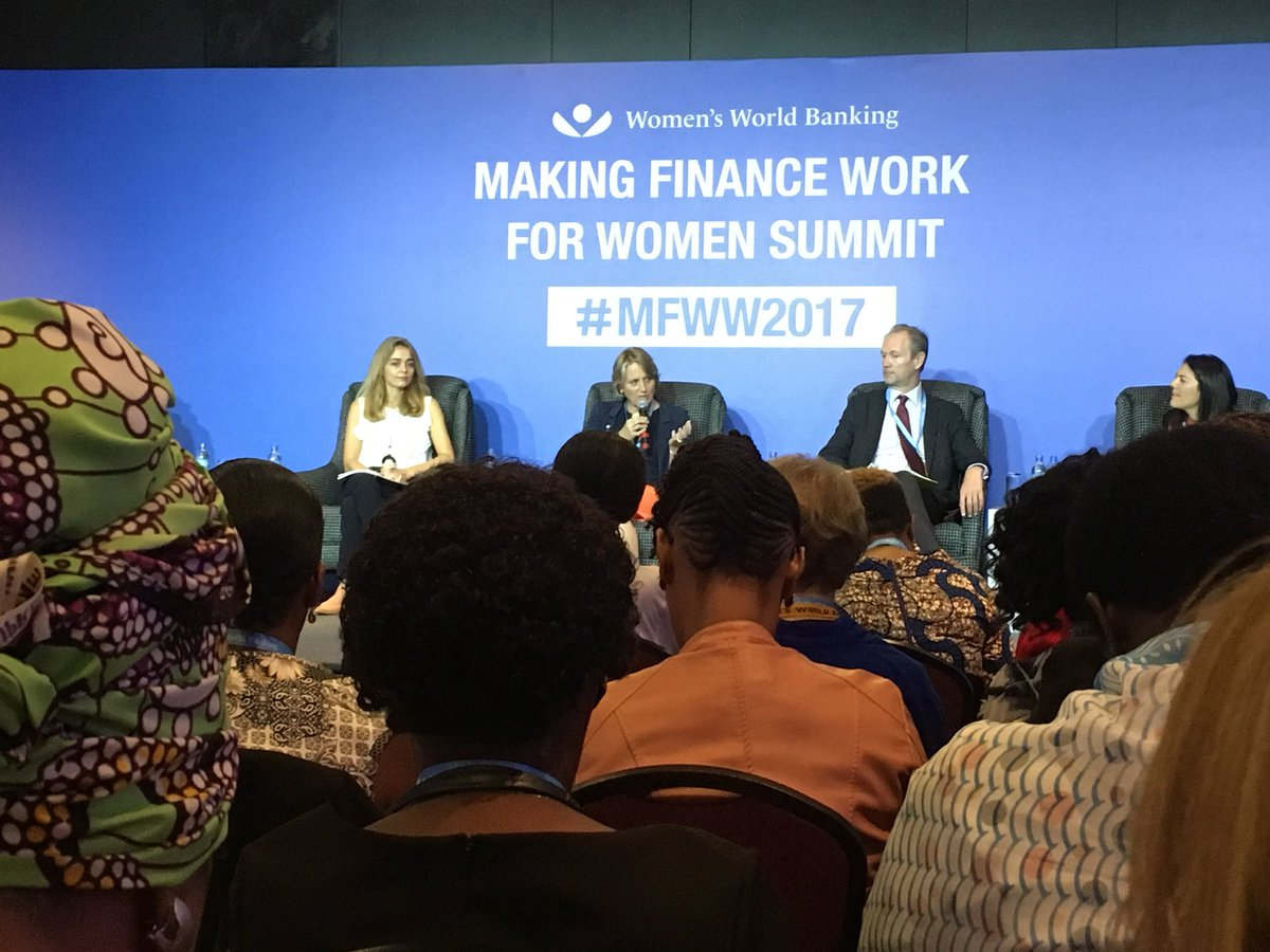 You empower women, you empower 50% of the economy and that's the business case' says @NMBTanzania CEO/ #FinancialInclusion leader  #MFWW2017<br>http://pic.twitter.com/TqMTCODQUU