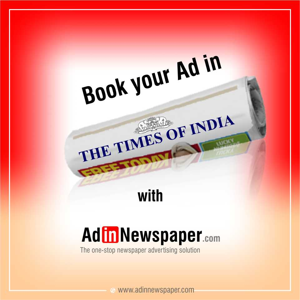 Book Online Ads in #TOI Newspaper for #marriage #business #property #advertising #fullpage Ads. Here:  https:// goo.gl/VG64P4  &nbsp;  <br>http://pic.twitter.com/fZwWLuE8lf