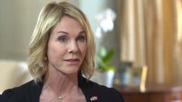 """The new U.S. ambassador to Canada says when it comes to climate change she believes in """"both sides of the science"""" http://cbc.ca/1.4366936"""