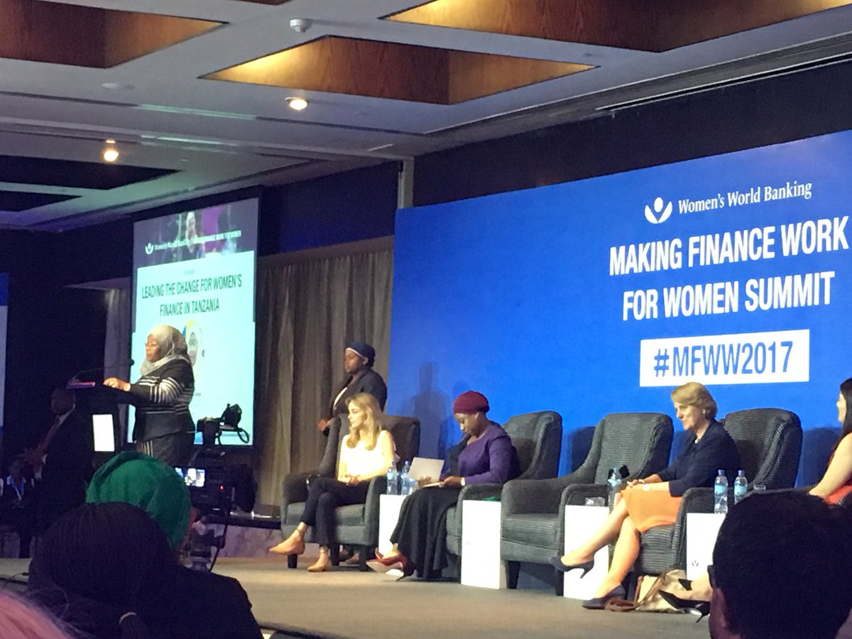 VP Tanzania &amp; @UNHLP membr speakng @ #MFWW2017. @CAREGlobal savings groups advance #women #financialinclusion #WEE .included n @UNHLP report<br>http://pic.twitter.com/UPVf0YVqzT