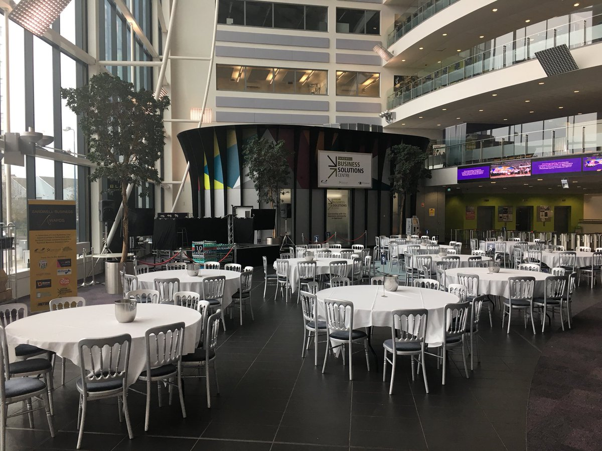 Preparations well underway for tonight's #sandwellbusinessawards  Looking forward to this exciting event! Thank you to our sponsors! #awards <br>http://pic.twitter.com/MtiMKbk8Co