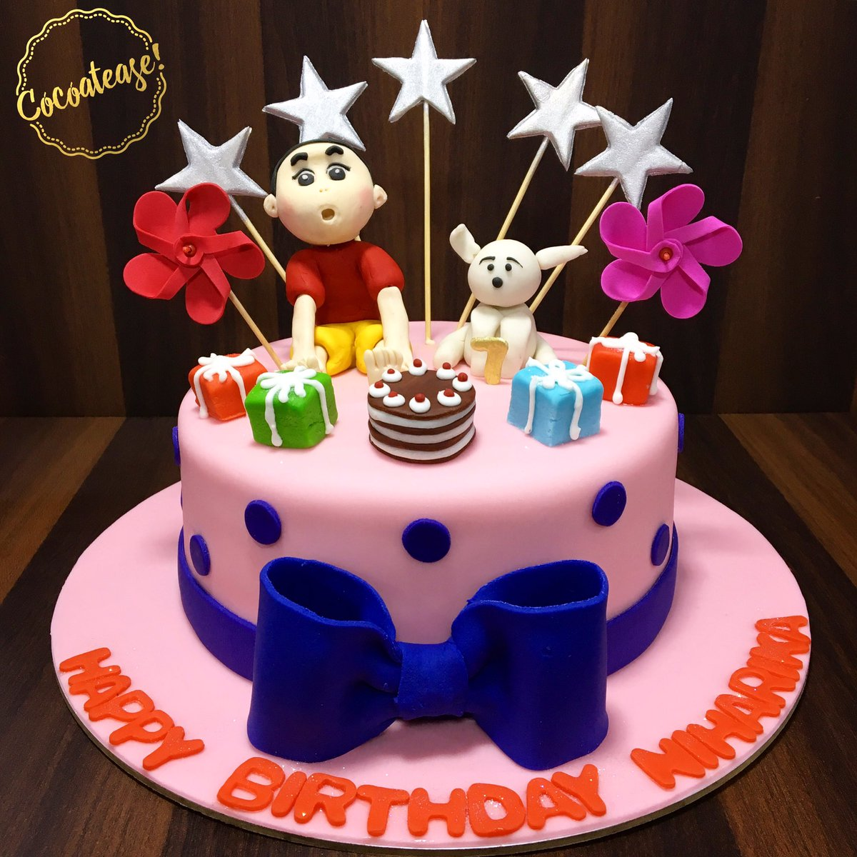 Cocoatease On Twitter Create Your Own Lil Chaos And Enjoy ThatAn Adorable Shin Chan Themed Gooey Chocolate Birthday Cake