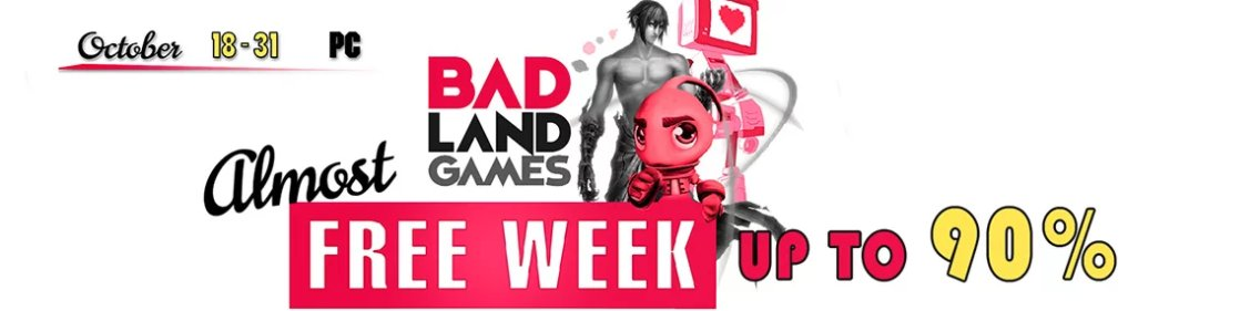 Behold the @BadLandGames  (almost) Free Week, exclusively on @GreenManGaming !  https://www. greenmangaming.com/publisher-sale /badlands/ &nbsp; …  #indiegames #Sales <br>http://pic.twitter.com/tZsUm9pGRs