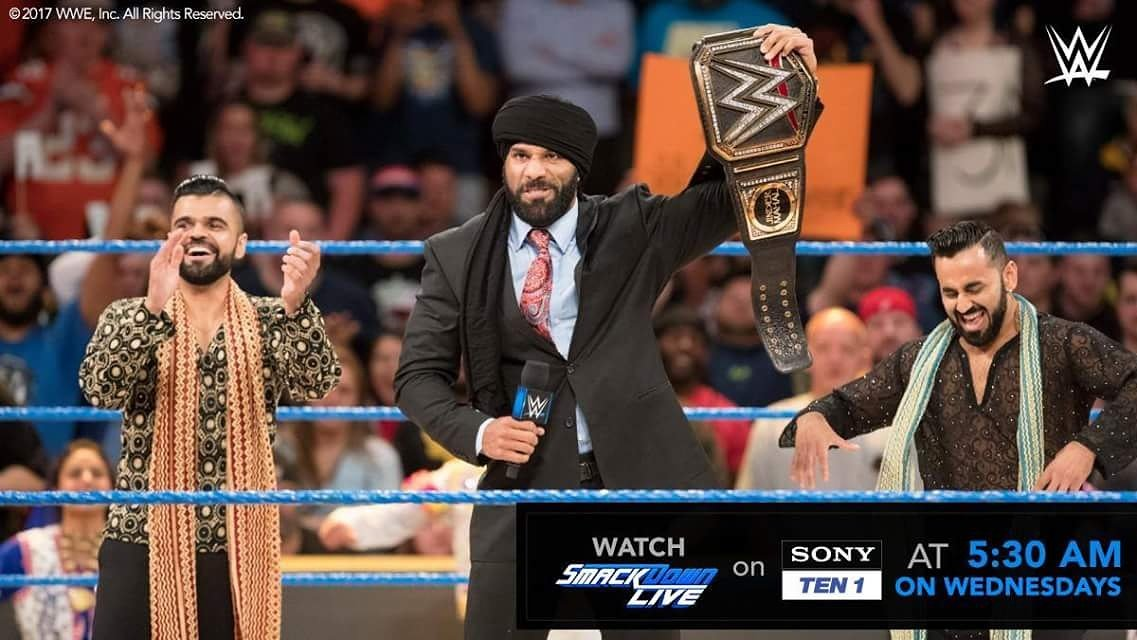 The #ModernDayMaharaja @JinderMahal gave the @WWEUniverse in #India just what they asked for - a challenge to #TheBeast @BrockLesnar !<br>http://pic.twitter.com/WRLFSnRcjf
