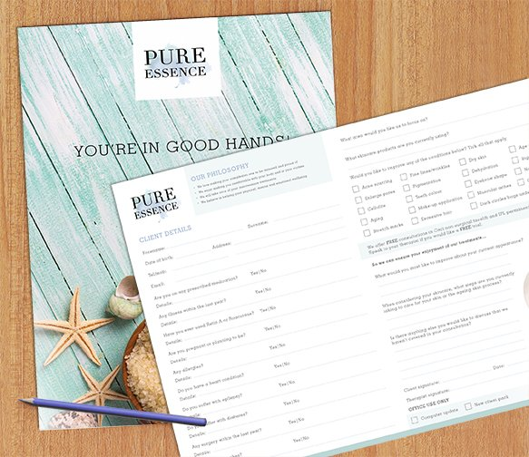 New consultation forms designed for Pure Essence Spa. #design #spa <br>http://pic.twitter.com/hplJsPiOH4