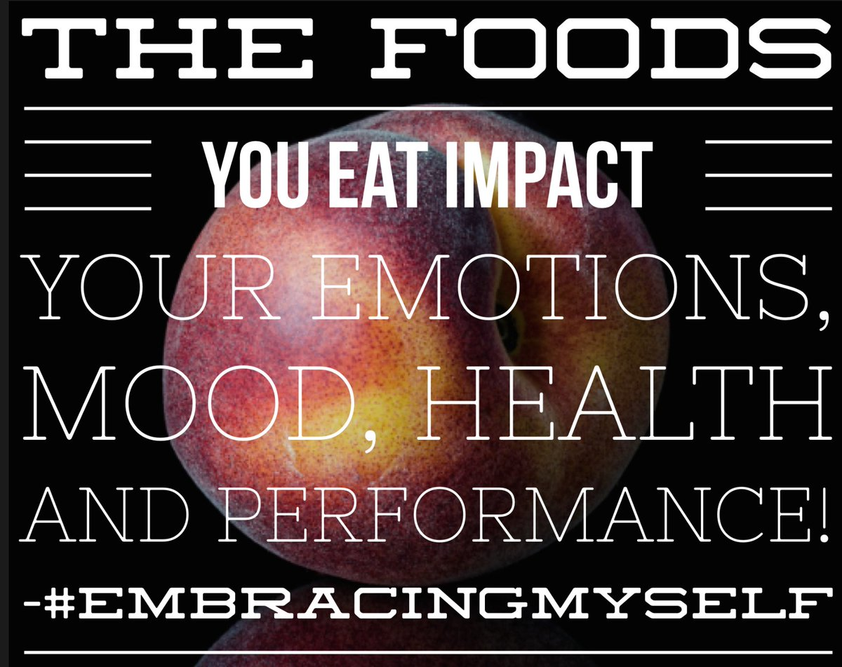 The foods we eat effect our #moods, #emotions, #health &amp; #performance #EatHealthy #CleanEating #NonProcessed #Mindfulness<br>http://pic.twitter.com/BzKCqPlCrv