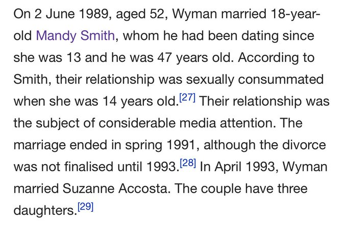 Happy 81st birthday Bill Wyman. His marriage to Mandy Smith remains fine in the eyes of the law