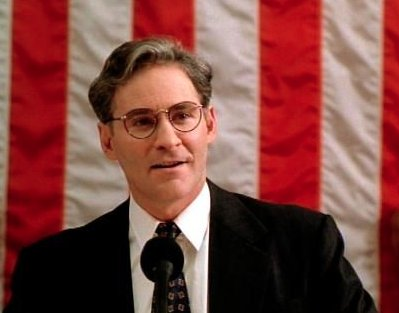 Happy 70th Birthday to Kevin Kline.   This was the day he became President.