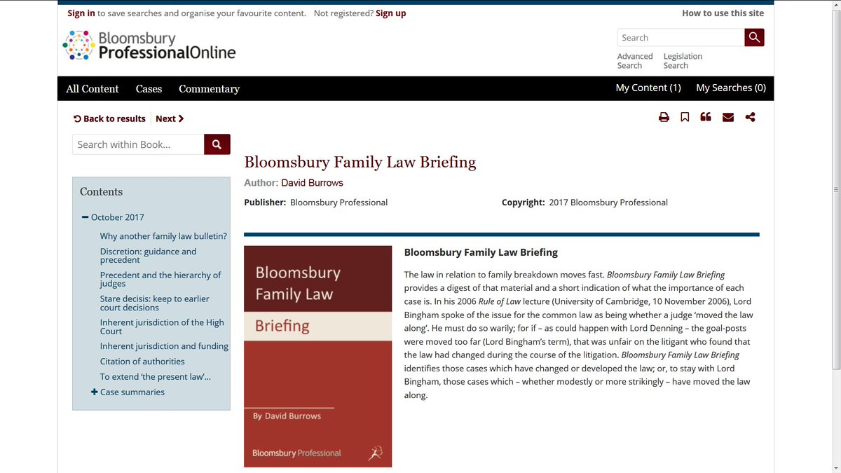 """Bloomsbury Law on Twitter: """"Family Law Briefing now live on Bloomsbury  Professional Online!… """""""