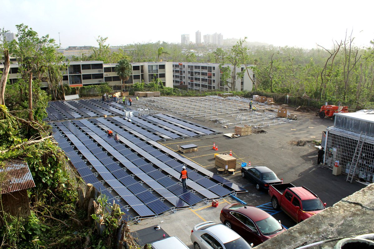 Hospital del Niño is first of many solar+storage projects going live. Grateful to support the recovery of Puerto Rico with