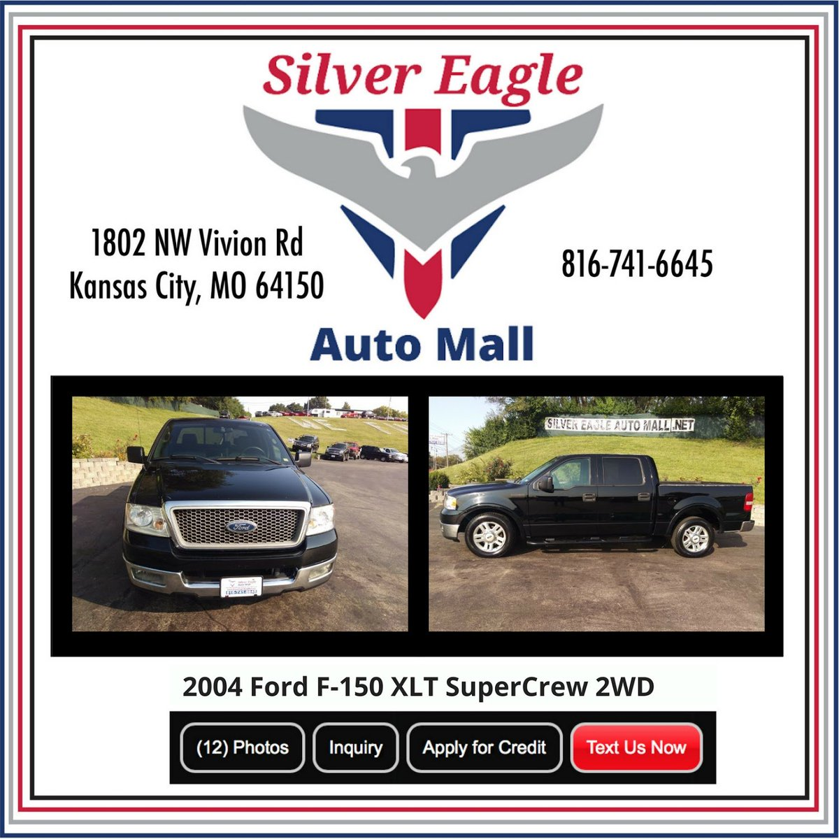 Silvereagleautomall Hashtag On Twitter 2004 Ford F 150 Xlt Supercrew 0 Replies Retweets Likes