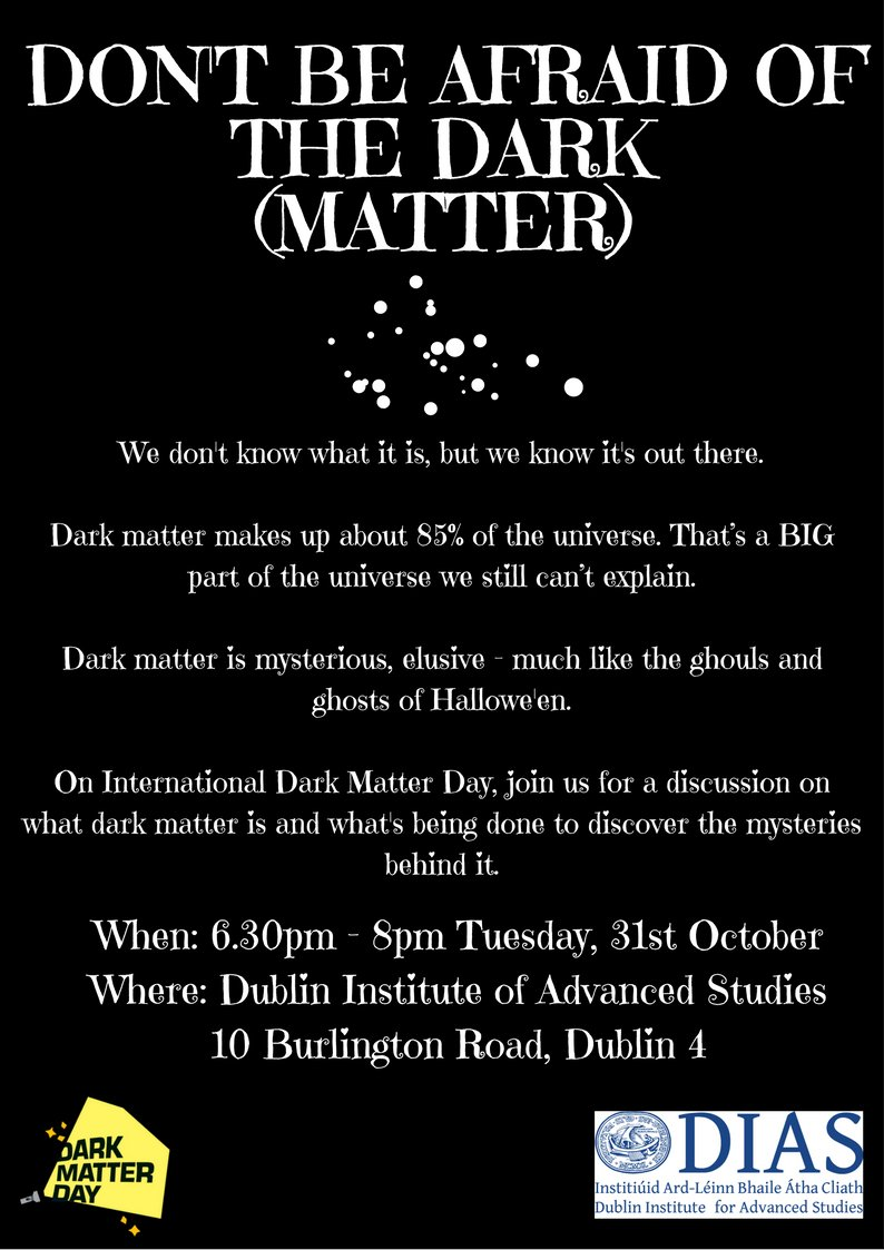 test Twitter Media - Hallowe'en Night 2017 – Tuesday 31st October, 18:30-20:00 :  Don't Be Afraid of the Dark (Matter)  https://t.co/ZqPU4EiS37 #DarkMatterDay https://t.co/BCgYSqoXDa