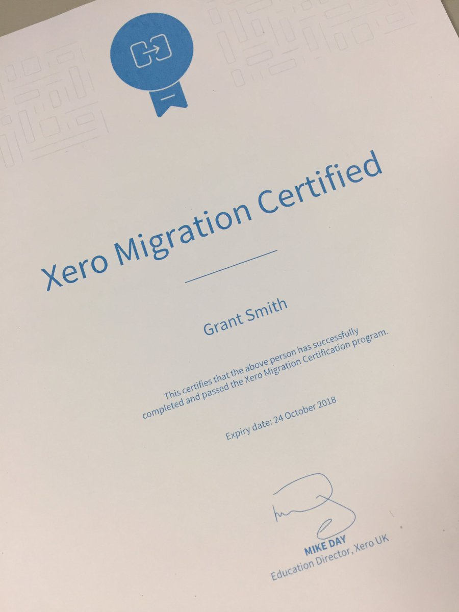 Grant Smith On Twitter Just Need My Xero Payroll Certification
